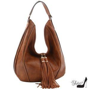 My Bag Lady Online Bags - Double-Tasseled Hobo Handbag & Wallet Set